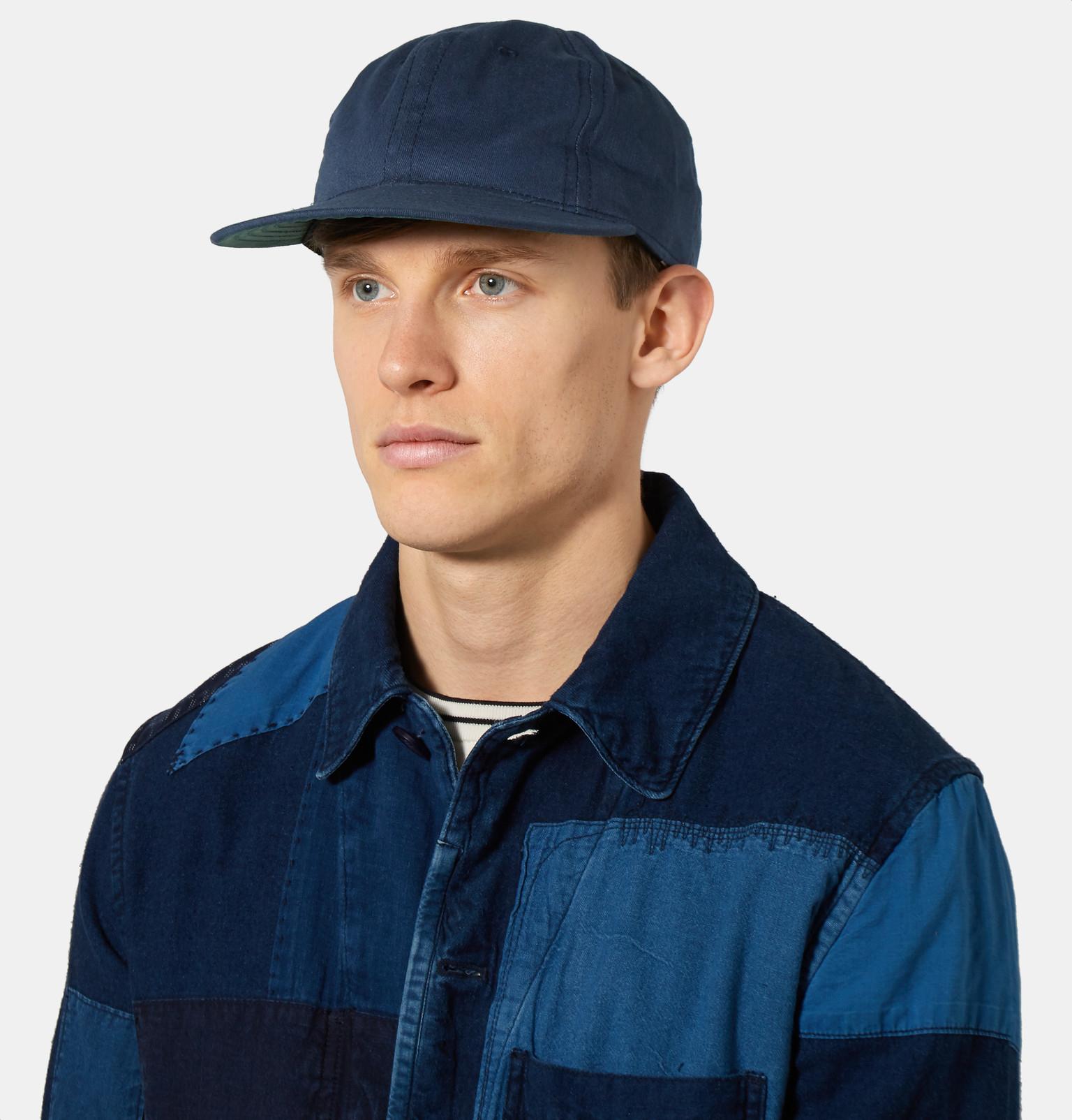 Ebbets Field Flannels Cotton-twill Baseball Cap in Blue for Men - Lyst d8f387bb40b