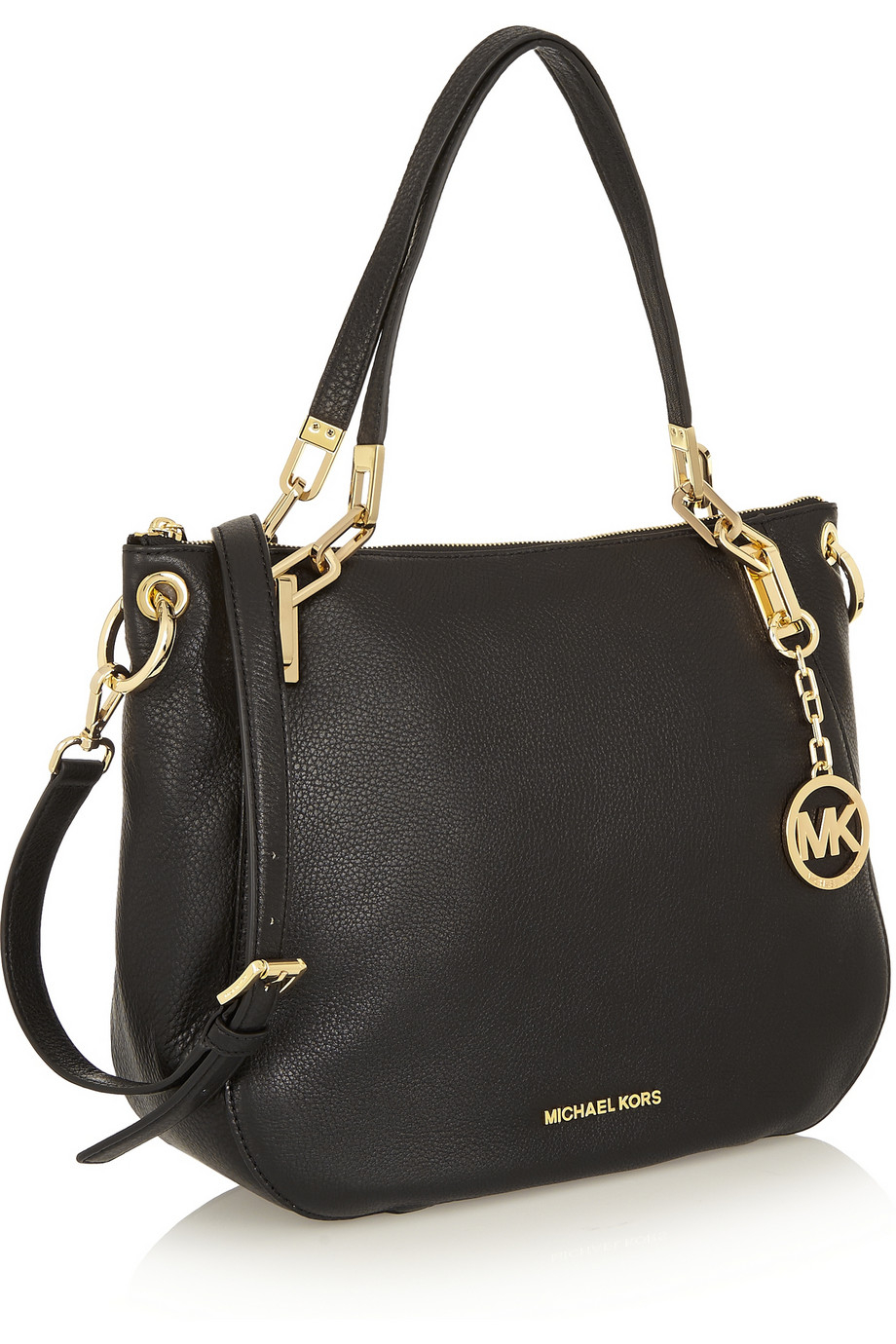 9d399bd2d367a3 ... where to buy lyst michael michael kors brooke large textured leather  shoulder 1d90c 16859