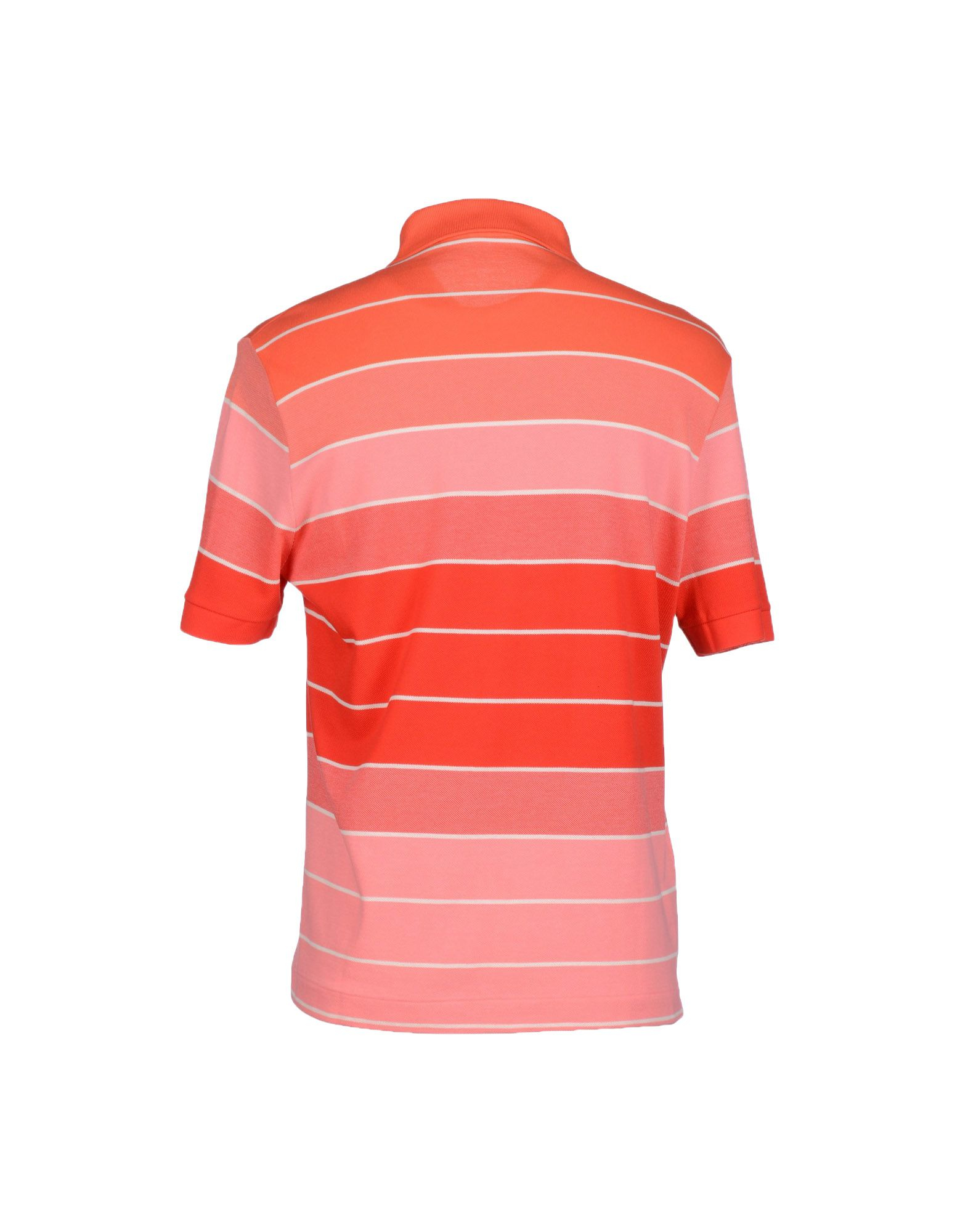 Lyst lacoste polo shirt in pink for men for Lacoste poloshirt weiay