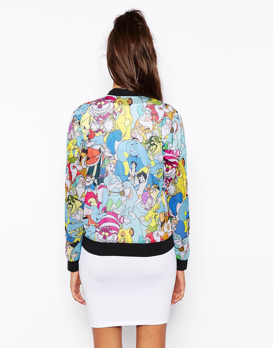 Lyst Asos Bomber Jacket With Disney Print