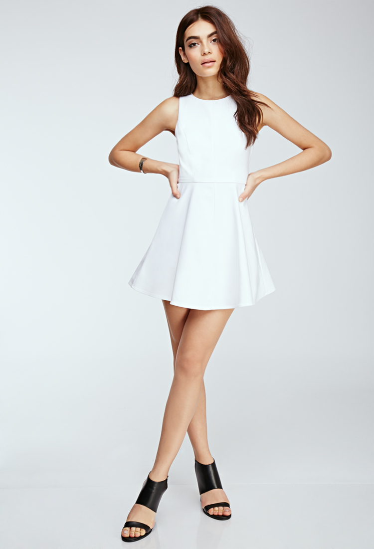 White dress cutout back.