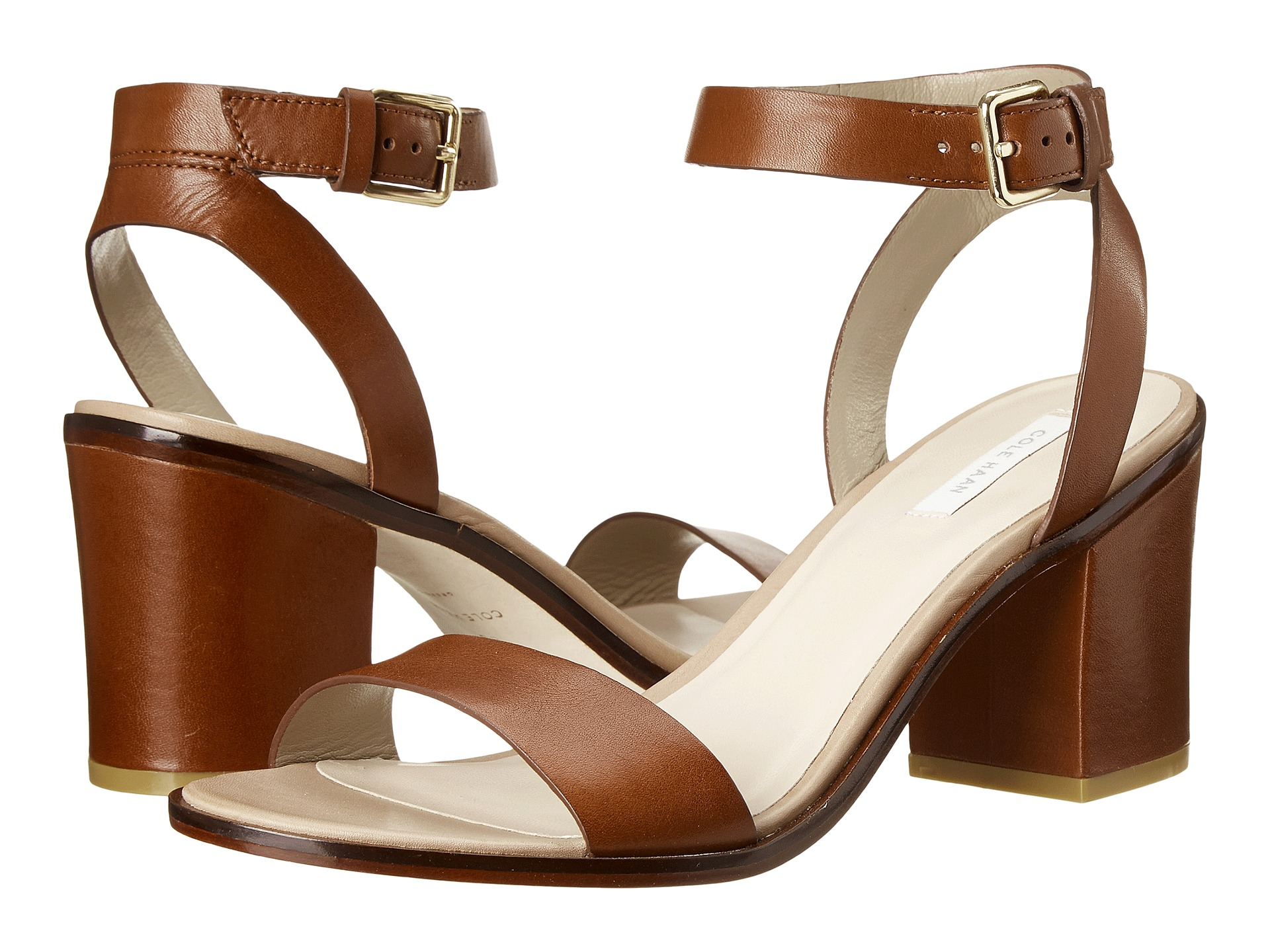 c24e73cb1e5 Lyst - Cole Haan Cambon Mid Sandal in Brown