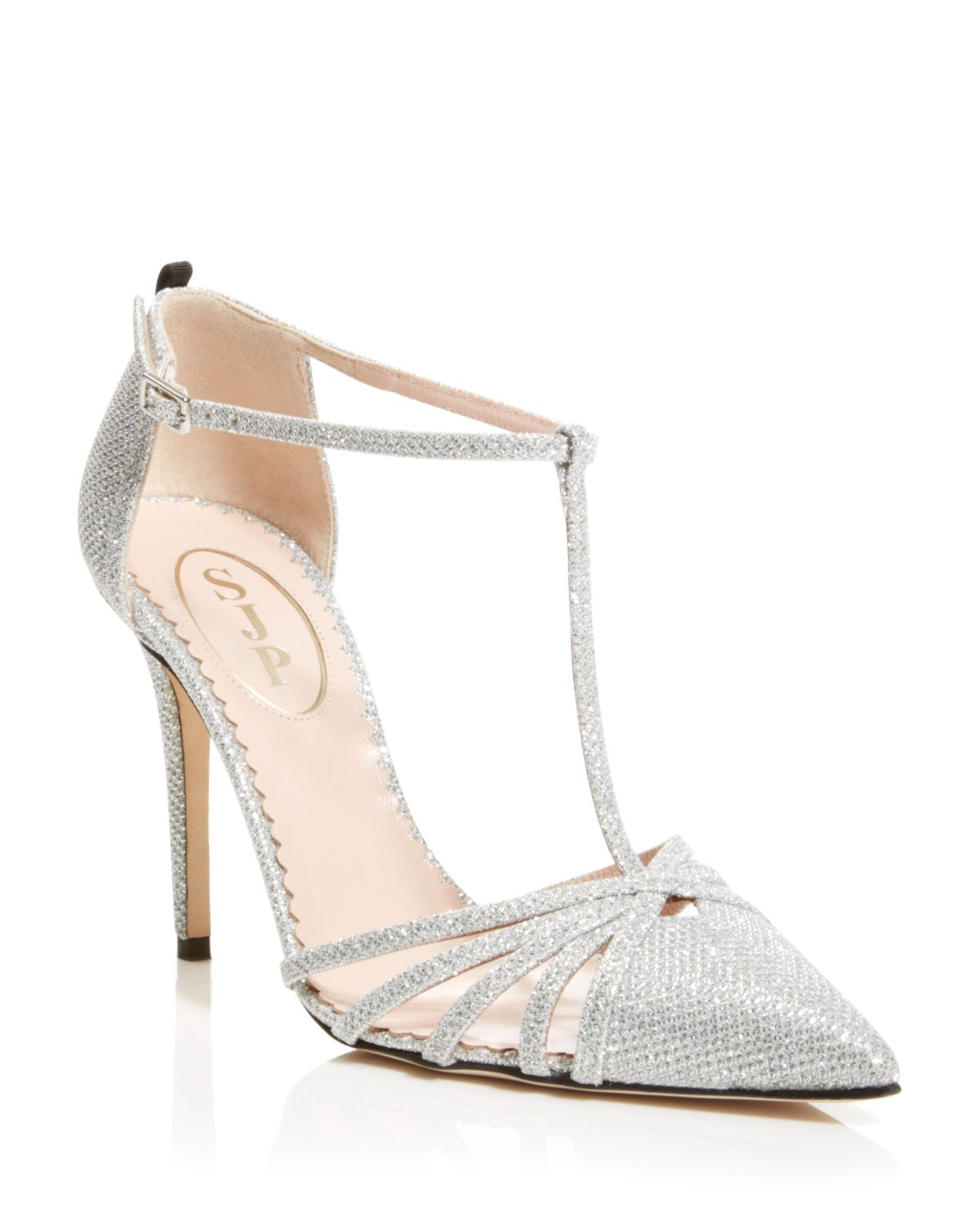 2b069ea3c2f SJP by Sarah Jessica Parker Carrie Glitter Cage T-strap Pumps in ...