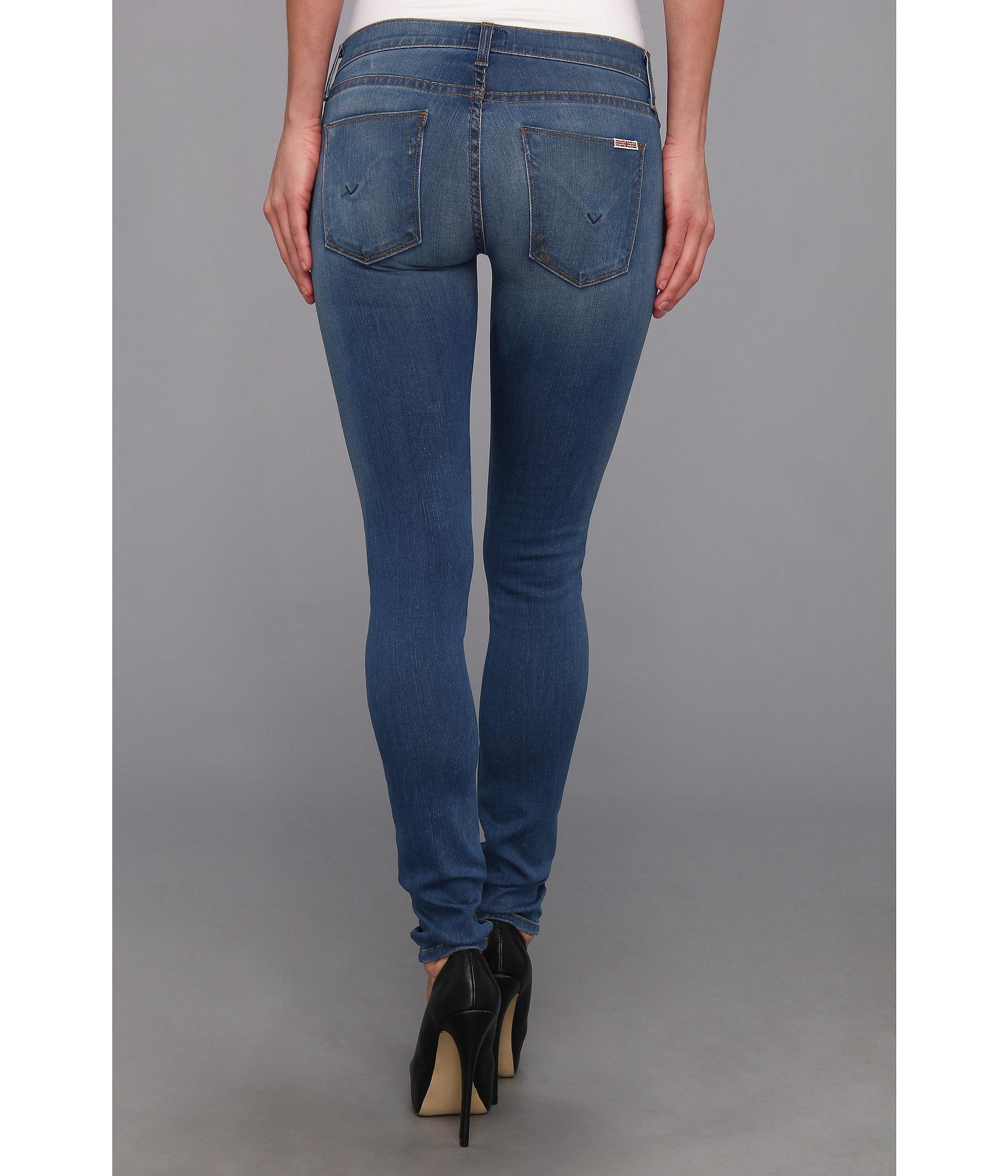 e41a70b6 Hudson Jeans Krista Super Skinny in Foxey in Blue - Lyst