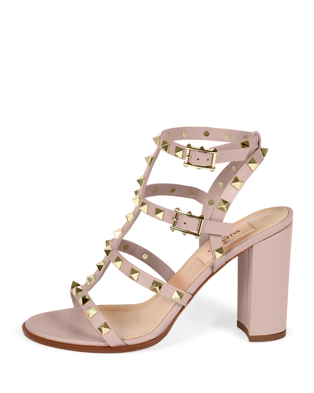 Valentino Women's Rockstud Block Heel Sandal D7CWEC