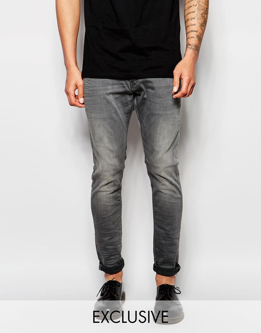 lyst g star raw beraw jeans 3301 a super slim fit superstretch gray tint in blue for men. Black Bedroom Furniture Sets. Home Design Ideas
