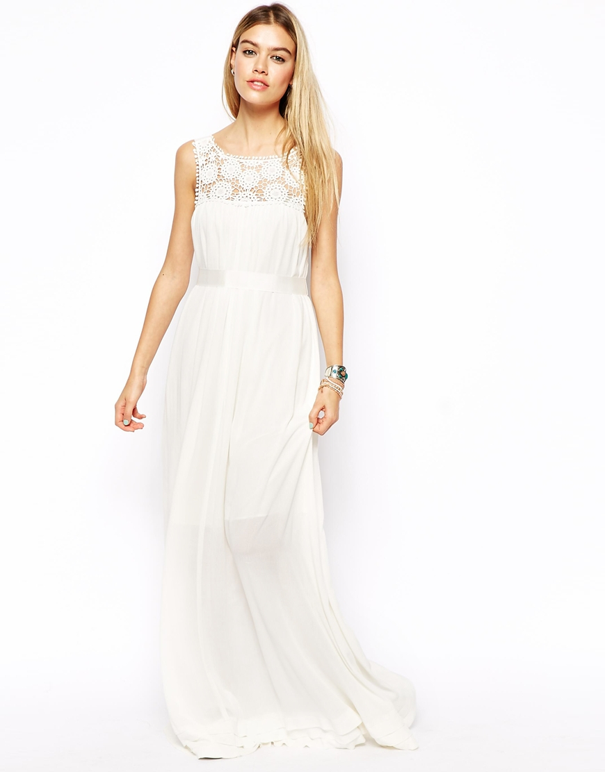 Crochet Maxi Dress : asos-white-maxi-dress-with-crochet-lace-yoke-maxi-dresses-product-1 ...