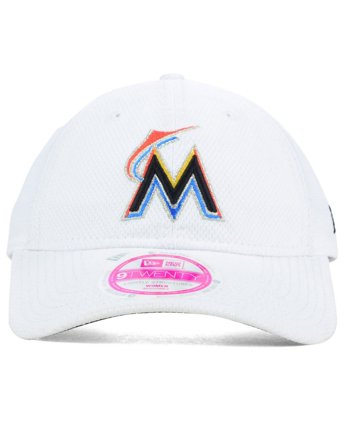 buy popular 82271 52dcf Lyst - KTZ Women S Miami Marlins 9Twenty Cap in White