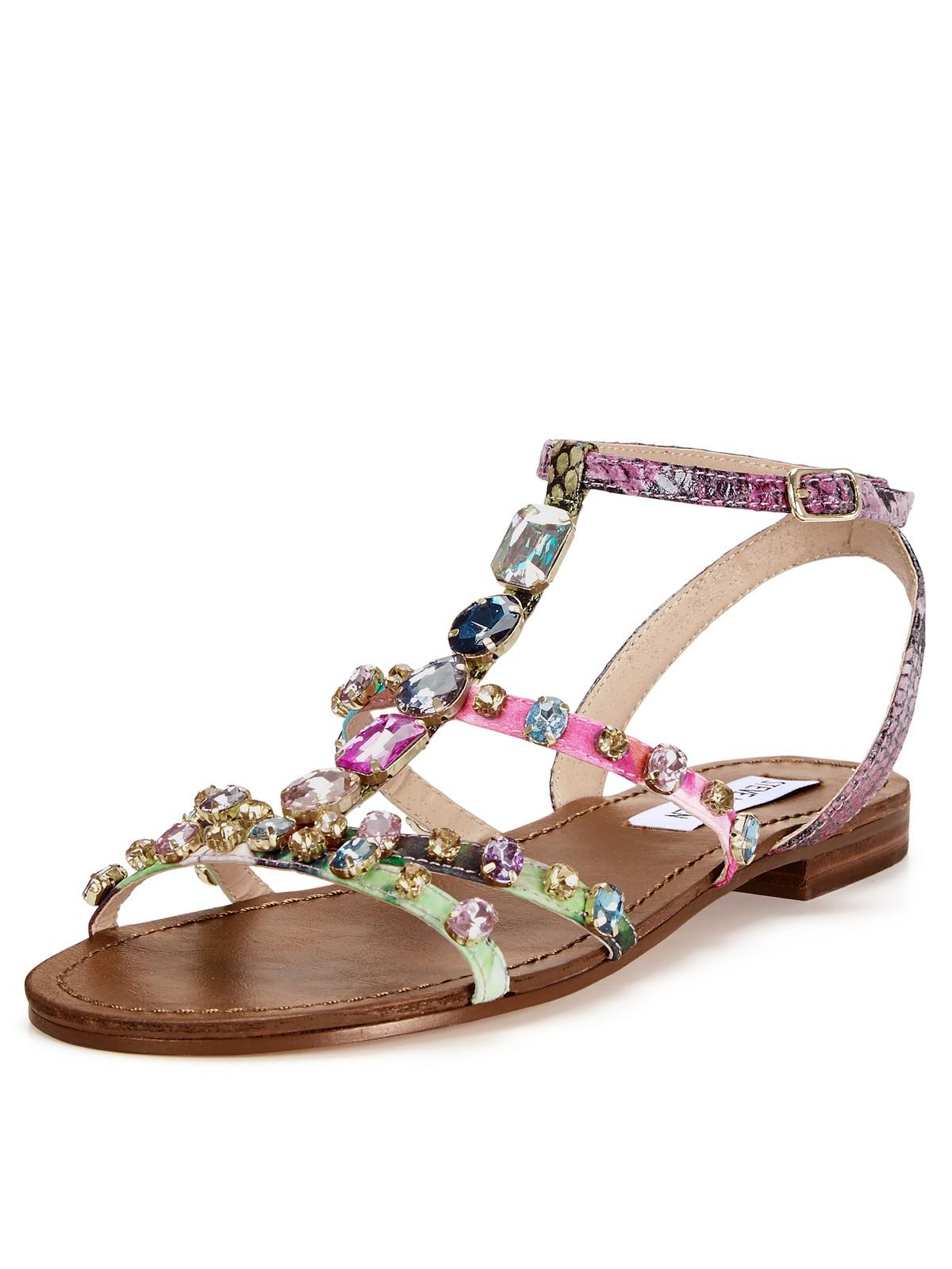 Steve Madden Embellished Flat Sandals