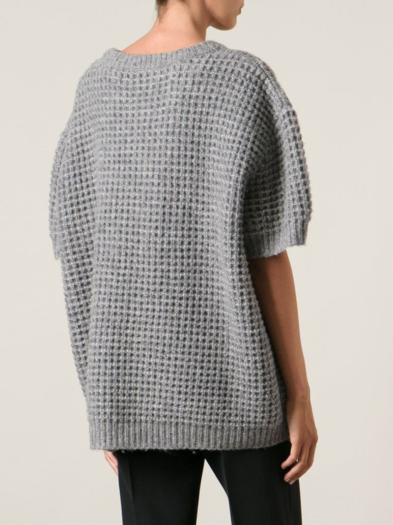 Marc by marc jacobs Chunky Short Sleeve Sweater in Gray | Lyst