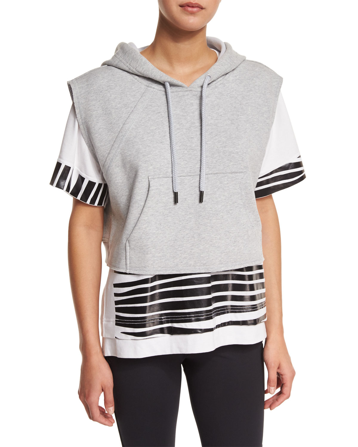 finest selection 8581d d2d7c Lyst - adidas By Stella McCartney Yoga Sleeveless Cropped Hoodie in ...