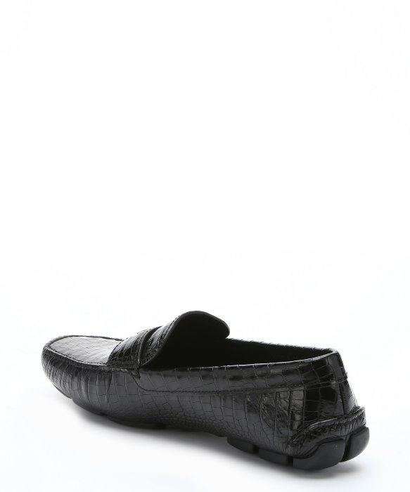 buy cheap shopping online Prada Leather Embossed Loafers buy cheap wide range of visa payment cheap online outlet clearance store iLWYk