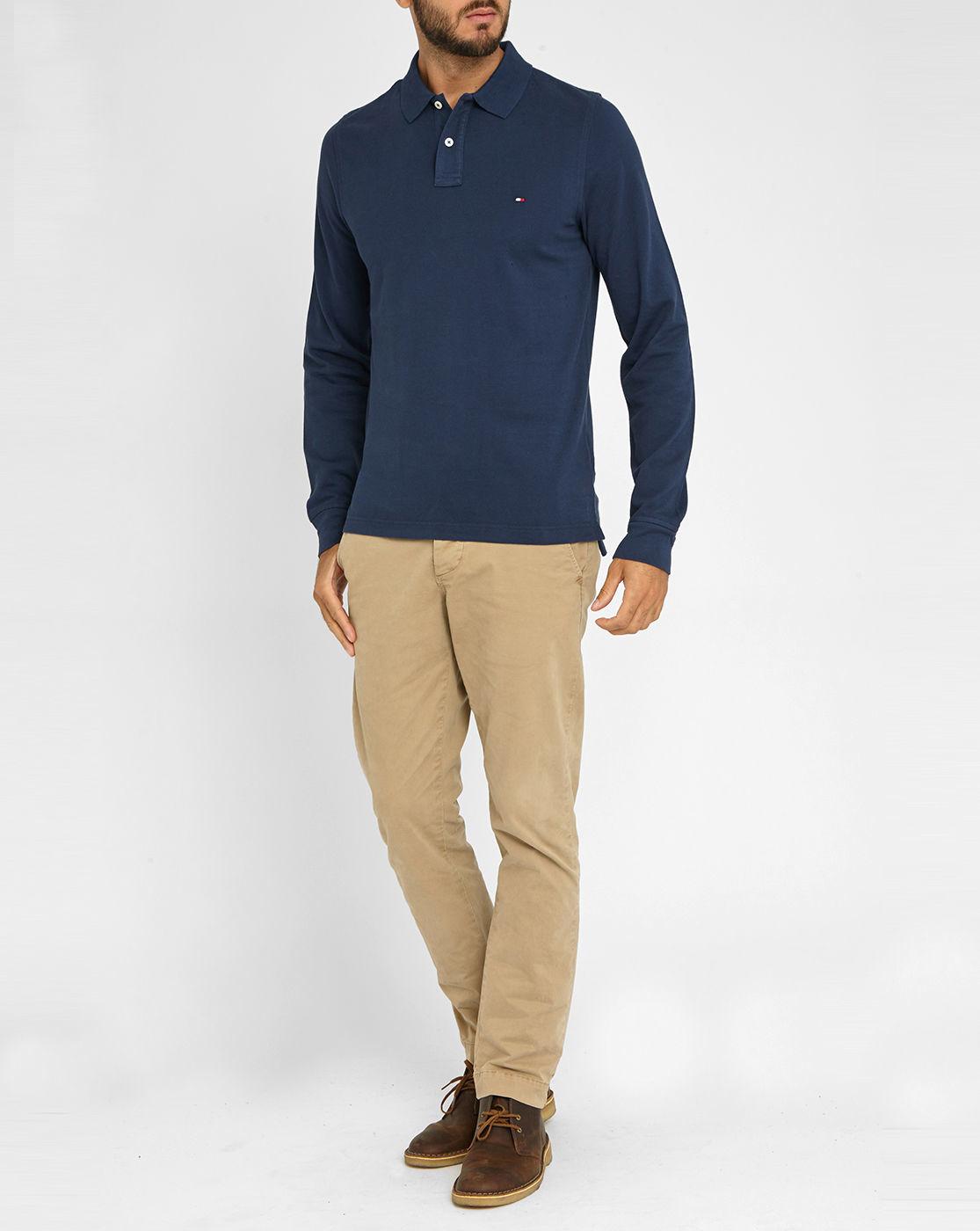 Tommy Hilfiger Navy Premium Piqu Long Sleeve Polo Shirt
