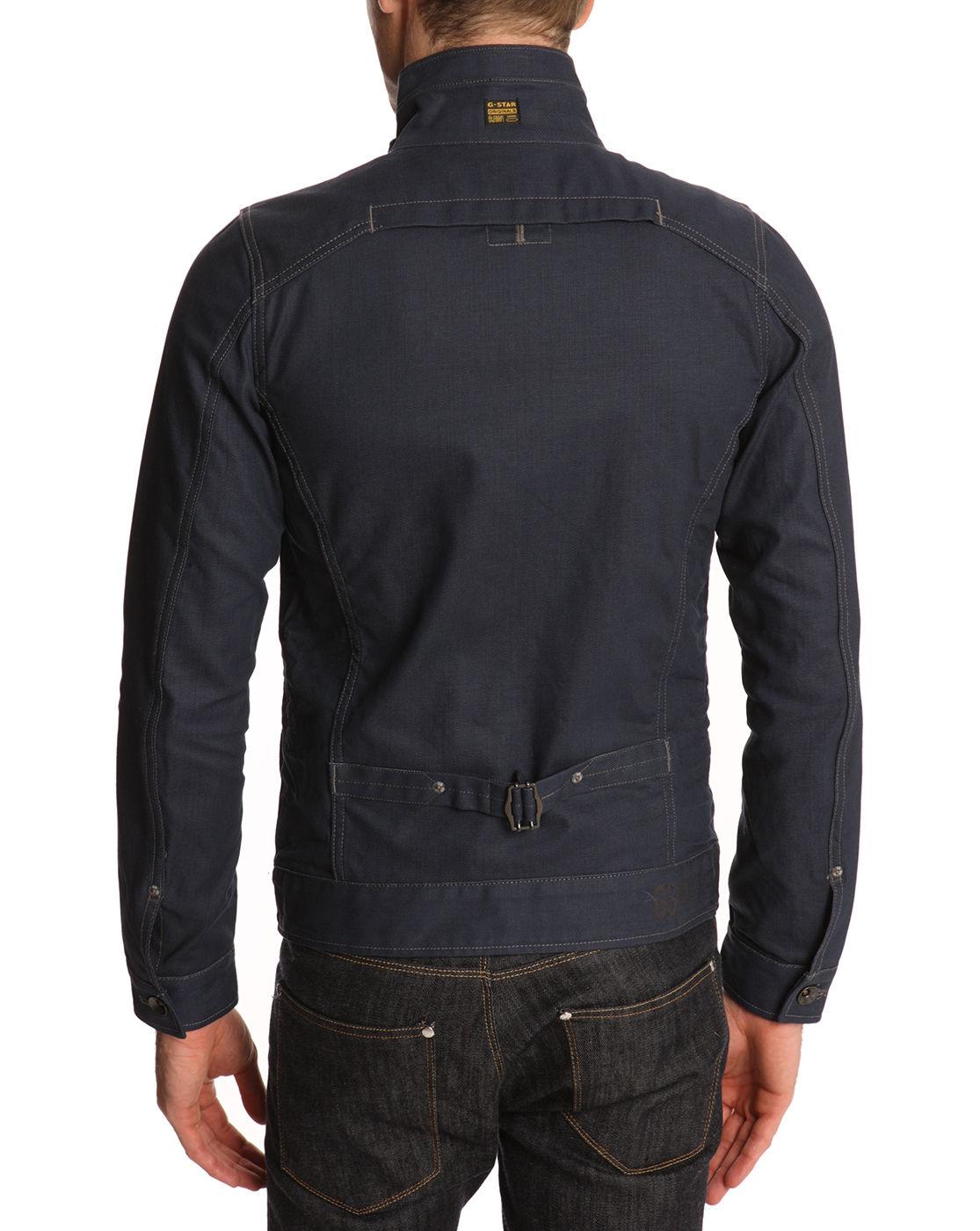 g star raw riley slim fit 3d denim jacket in blue for men. Black Bedroom Furniture Sets. Home Design Ideas