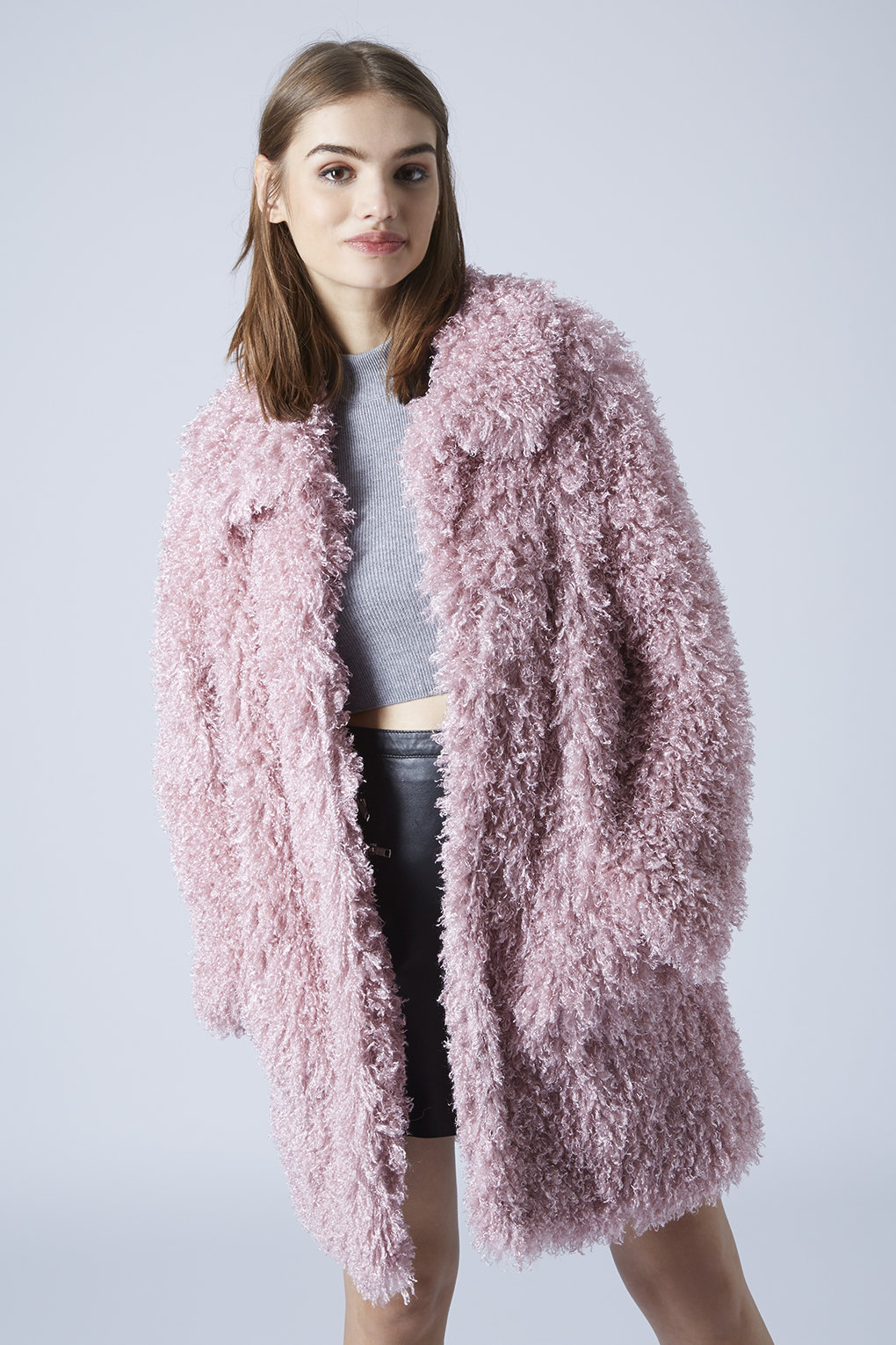 Topshop Womens De Fur Faux Fur Coat by Unreal Fur - Pink in Pink ...