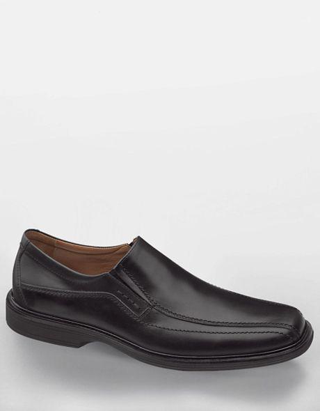 johnston murphy penn waterproof leather slipons in black