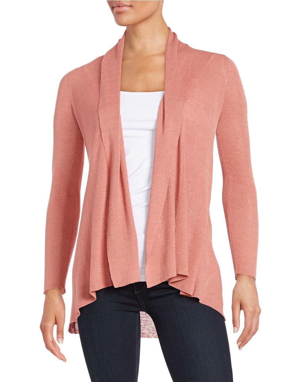 Eileen fisher Petite Textured Flyaway Cardigan in Pink | Lyst