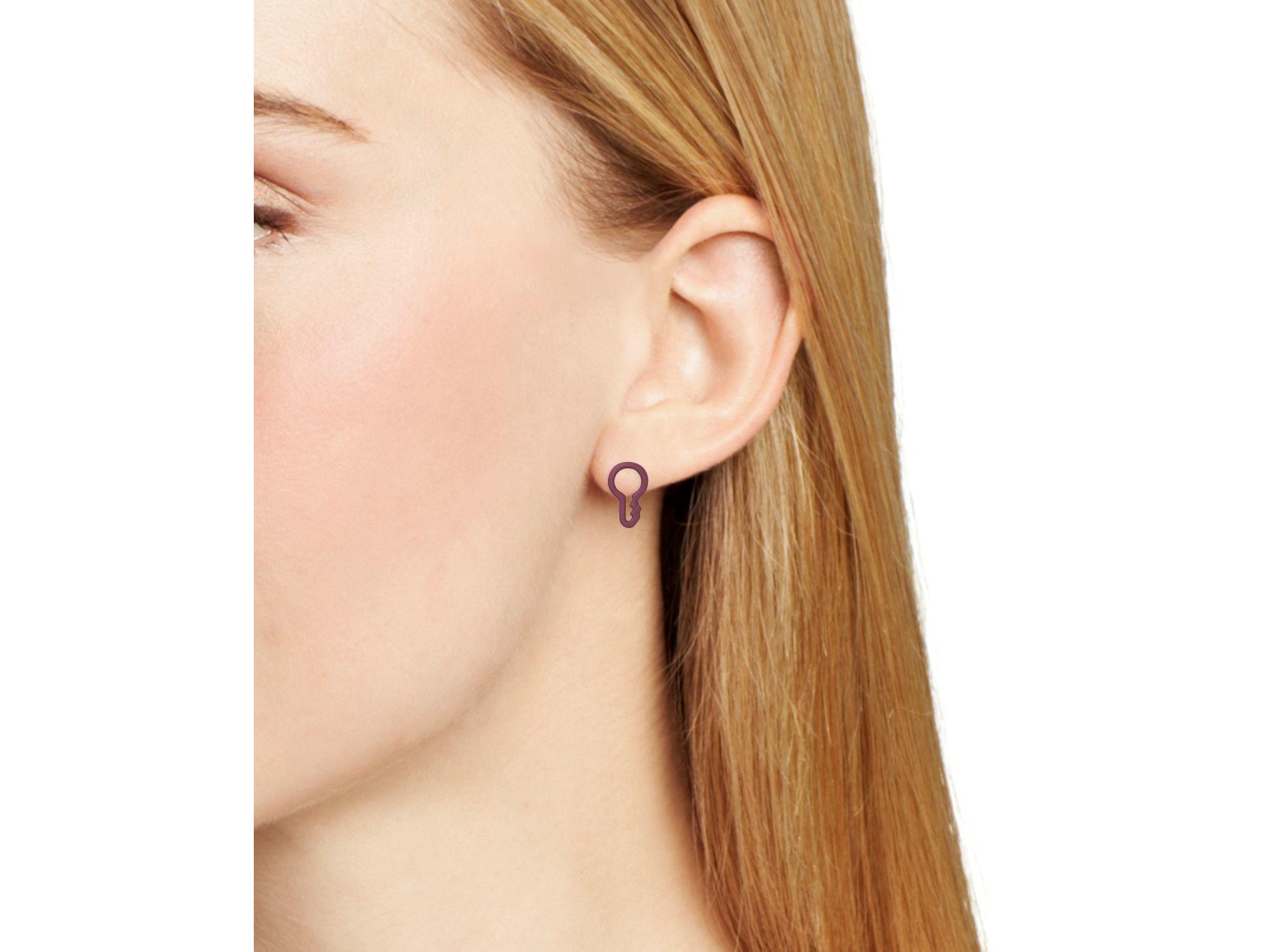 7f7b5fb86 Marc By Marc Jacobs Rubber Key Stud Earrings in Purple - Lyst