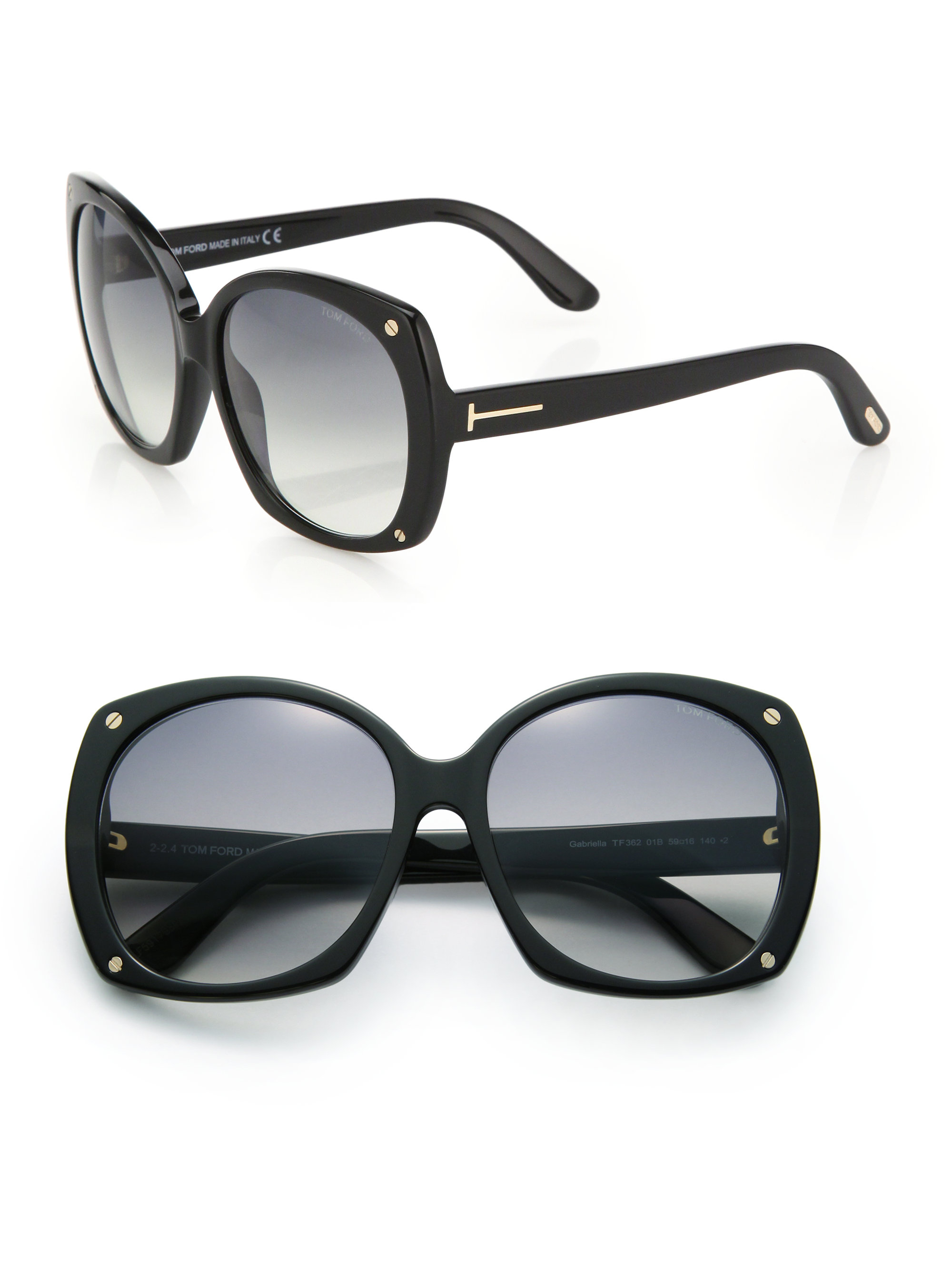 tom ford oversized 59mm square sunglasses in black lyst. Black Bedroom Furniture Sets. Home Design Ideas