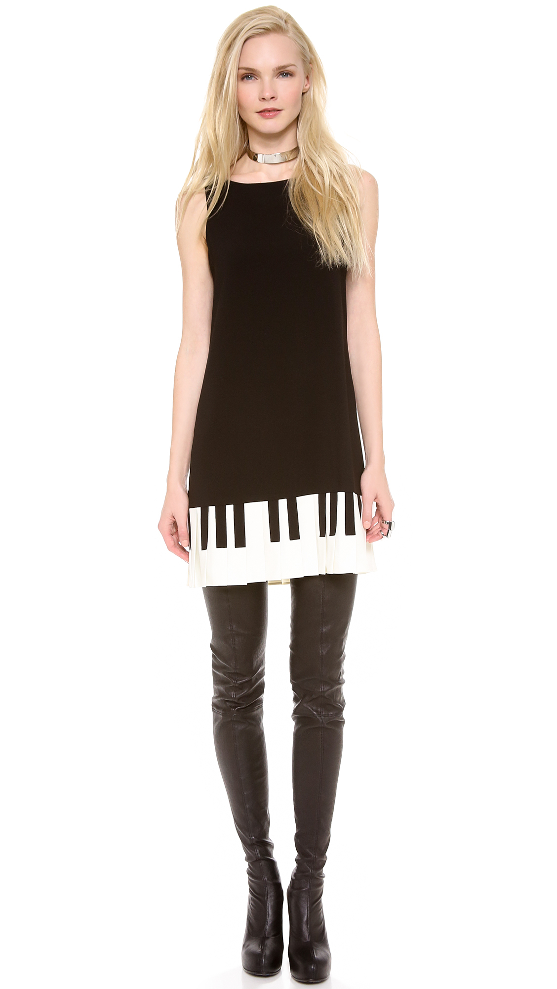 Moschino Cheap And Chic Piano Dress In Black Lyst