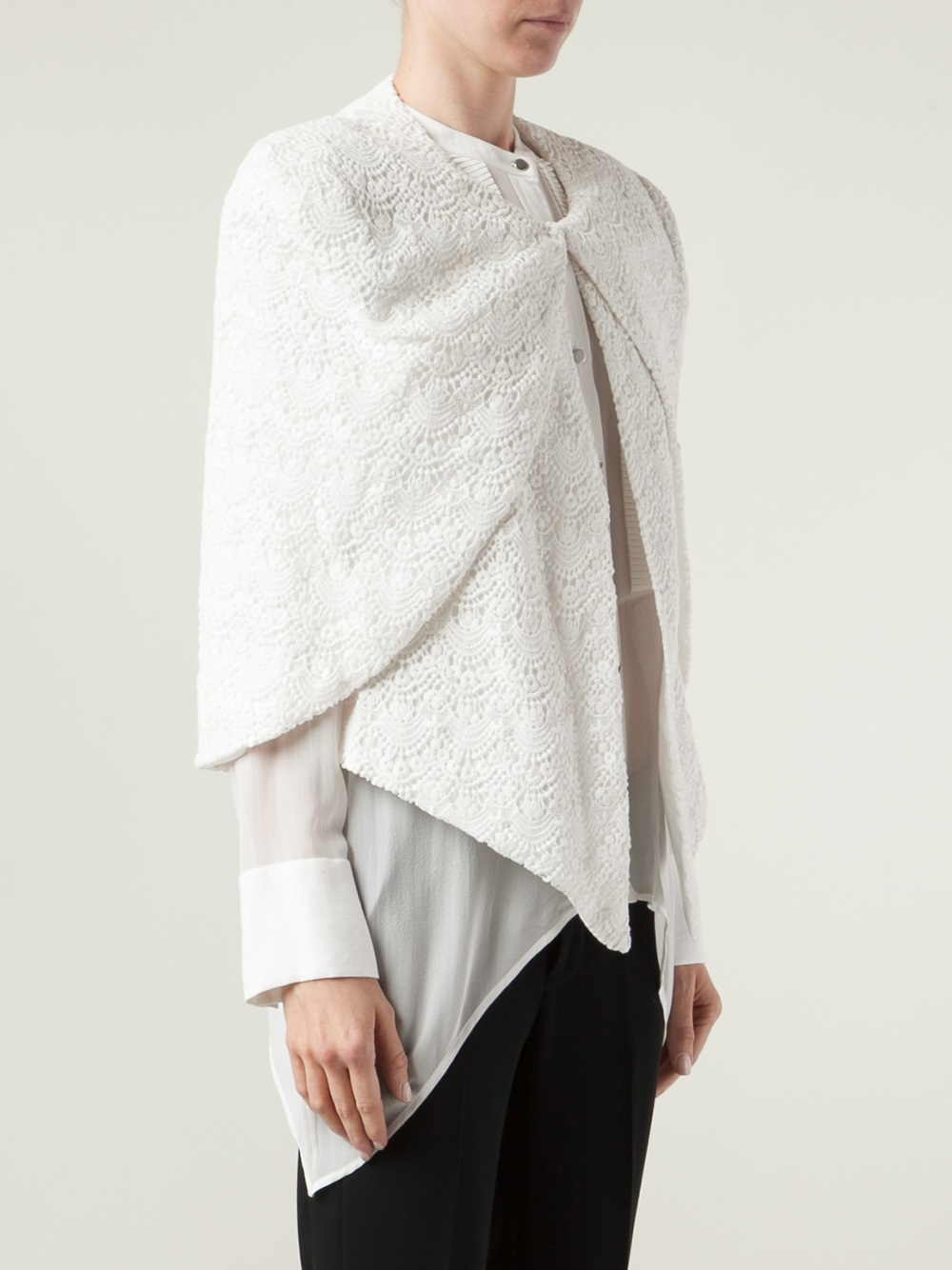 capelet blazer lyst sass bide a writers life capelet jacket in white 613