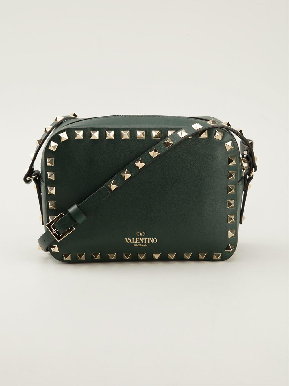 Valentino Garavani quilted Rockstud crossbody bag - Green Valentino IMXeqMZmlO