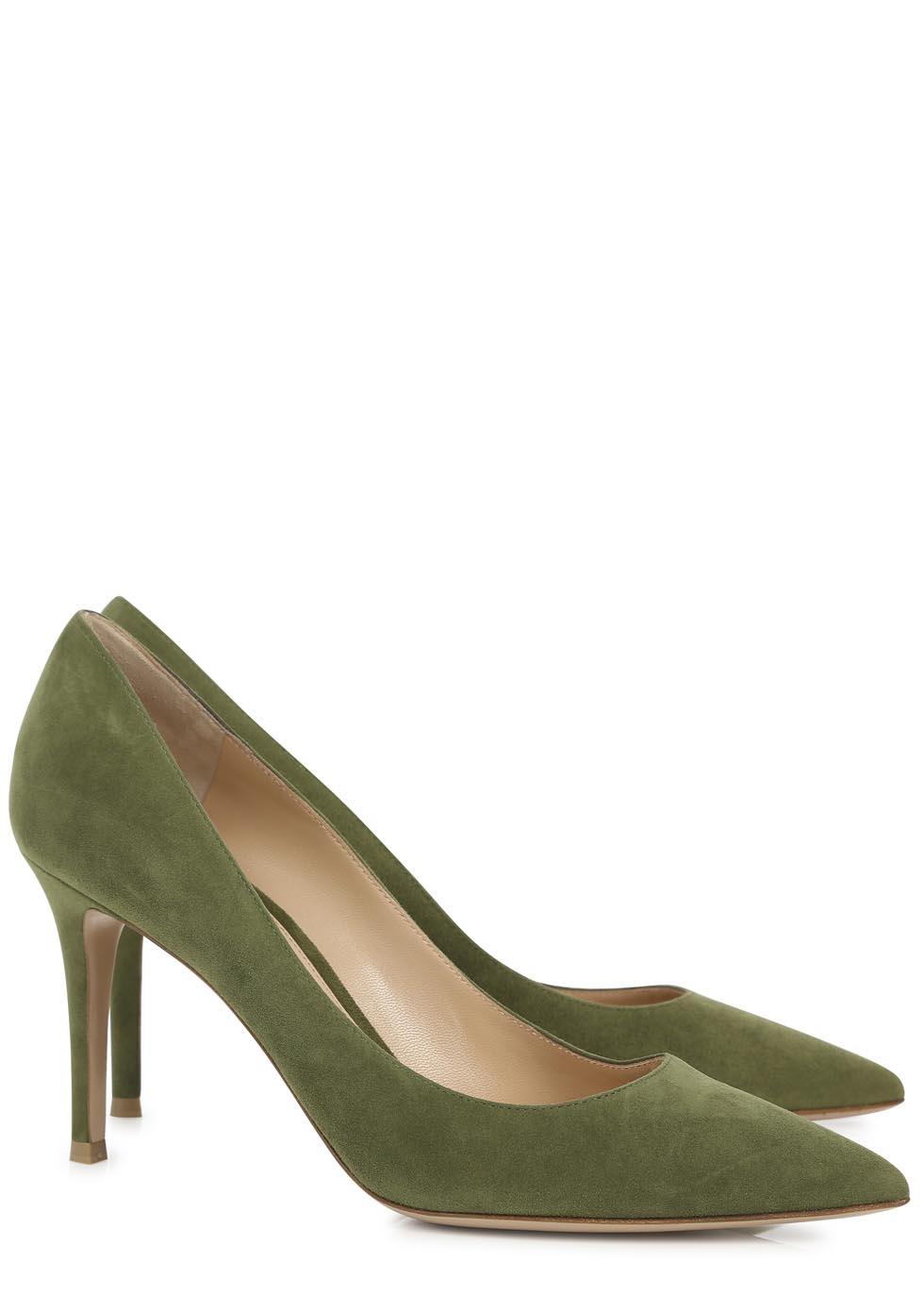 85 Suede Pumps - Green Gianvito Rossi AsA2RvAou5