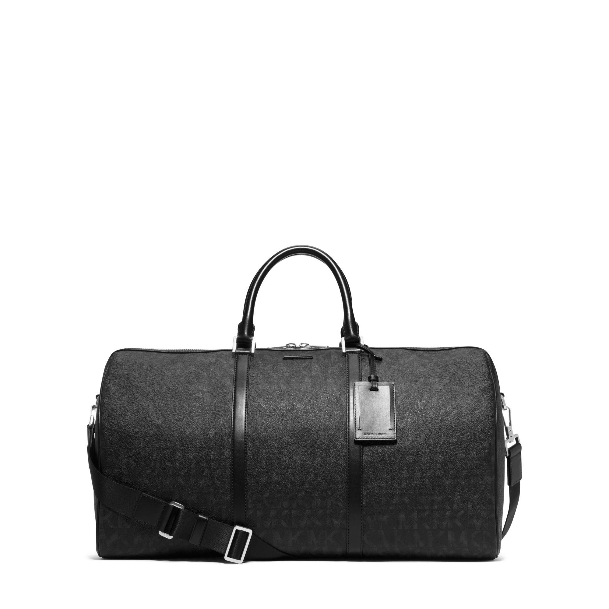 Michael kors Jet Set Travel Large Logo Duffel in Black for Men : Lyst