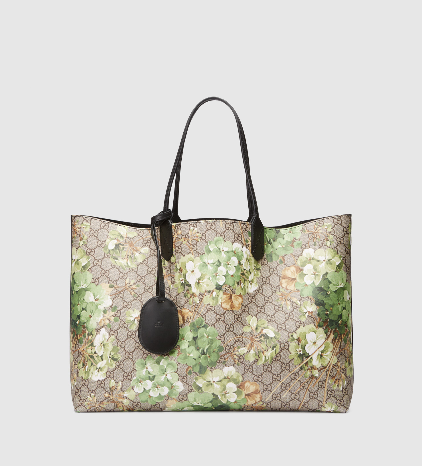 cc4635fac Gucci Reversible Gg Blooms Leather Tote in Green for Men - Lyst