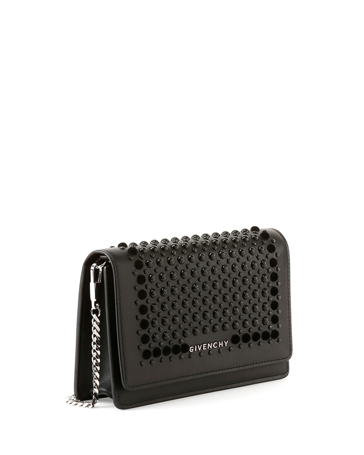 Lyst - Givenchy Pandora Studded Wallet-on-a-chain in Black 0e57c0885c4a1