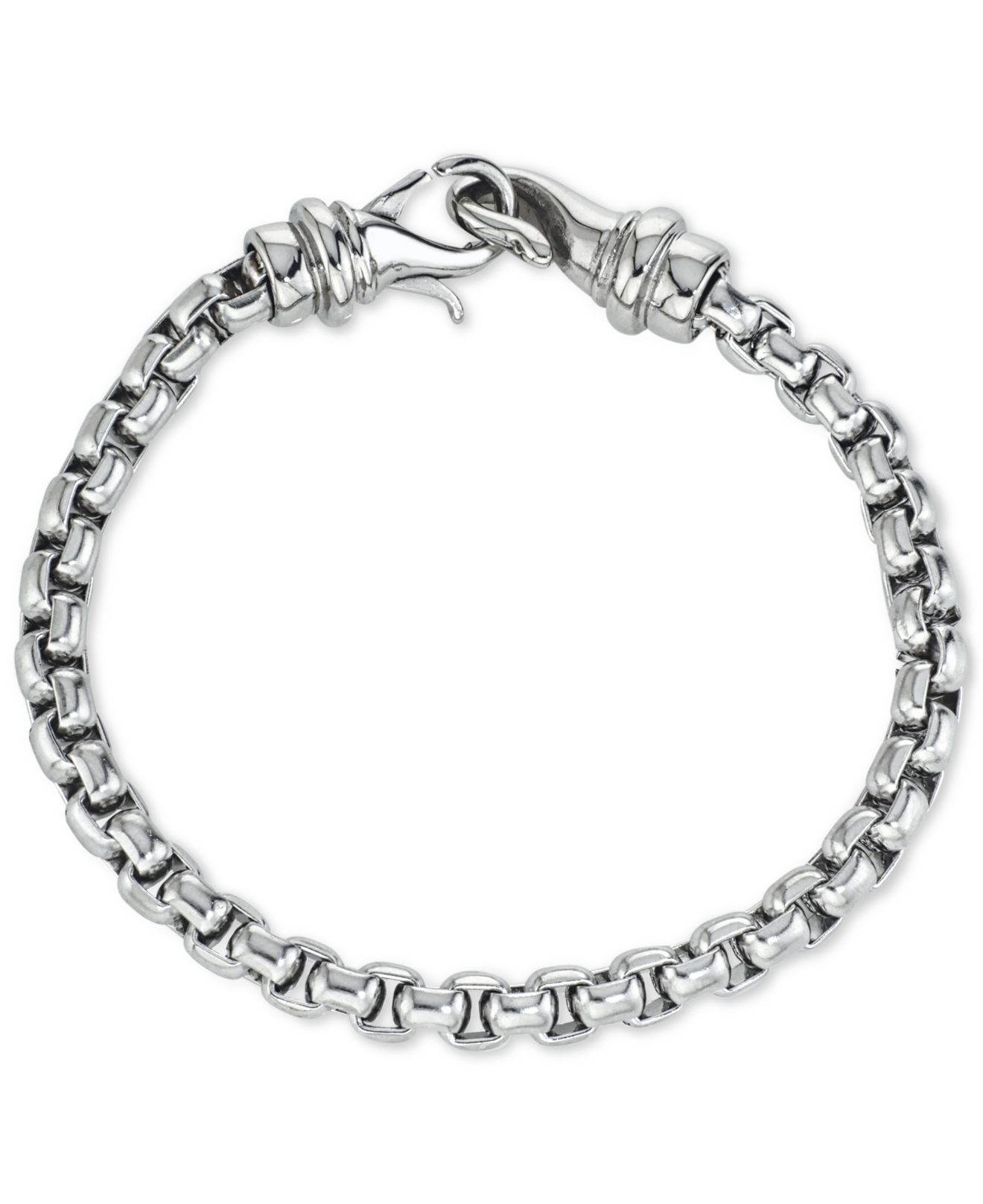 macy s pandora bracelet macy s linked bracelet in stainless steel in silver 9286