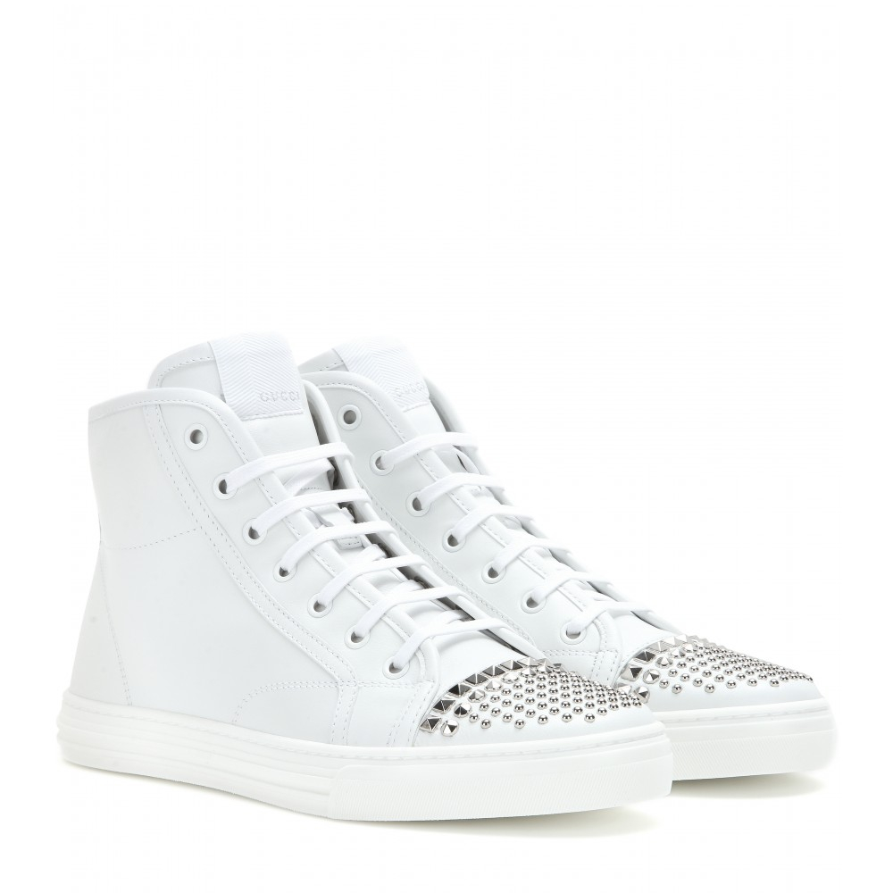 Gucci California Leather High,Top Sneakers in White , Lyst