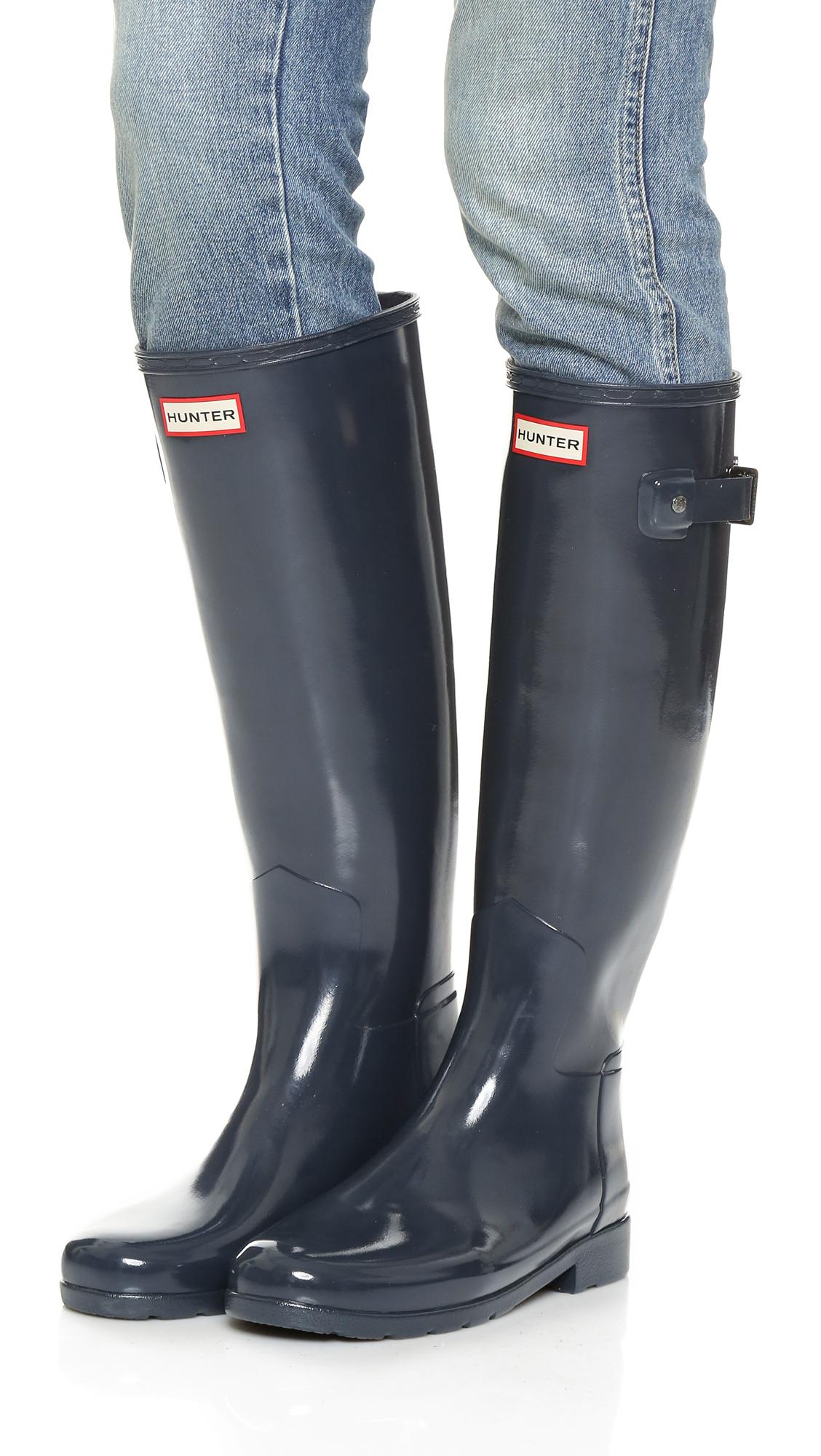 c7052a4a22a55 Lyst - HUNTER Original Refined Gloss Boots in Blue