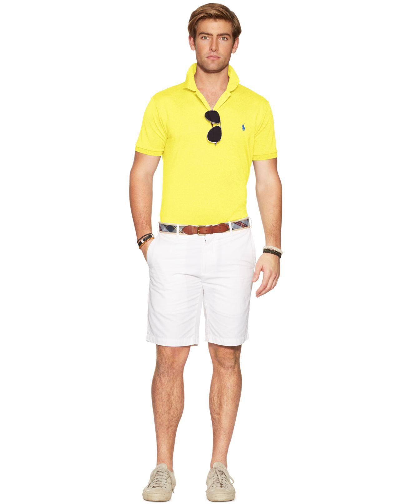 Polo ralph lauren Performance Mesh Polo Shirt in Yellow for Men (Lemon Crush) |