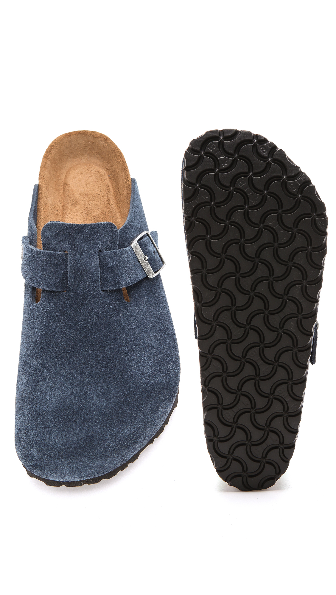 fc29fbb8a210 Lyst - Birkenstock Soft Footbed Boston Clogs in Blue for Men
