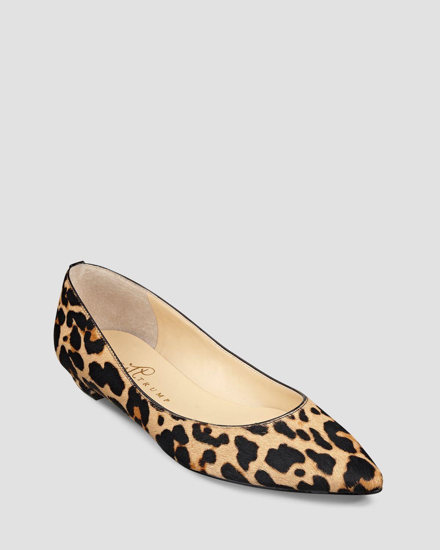Ivanka Trump Shoes Leopard Flats
