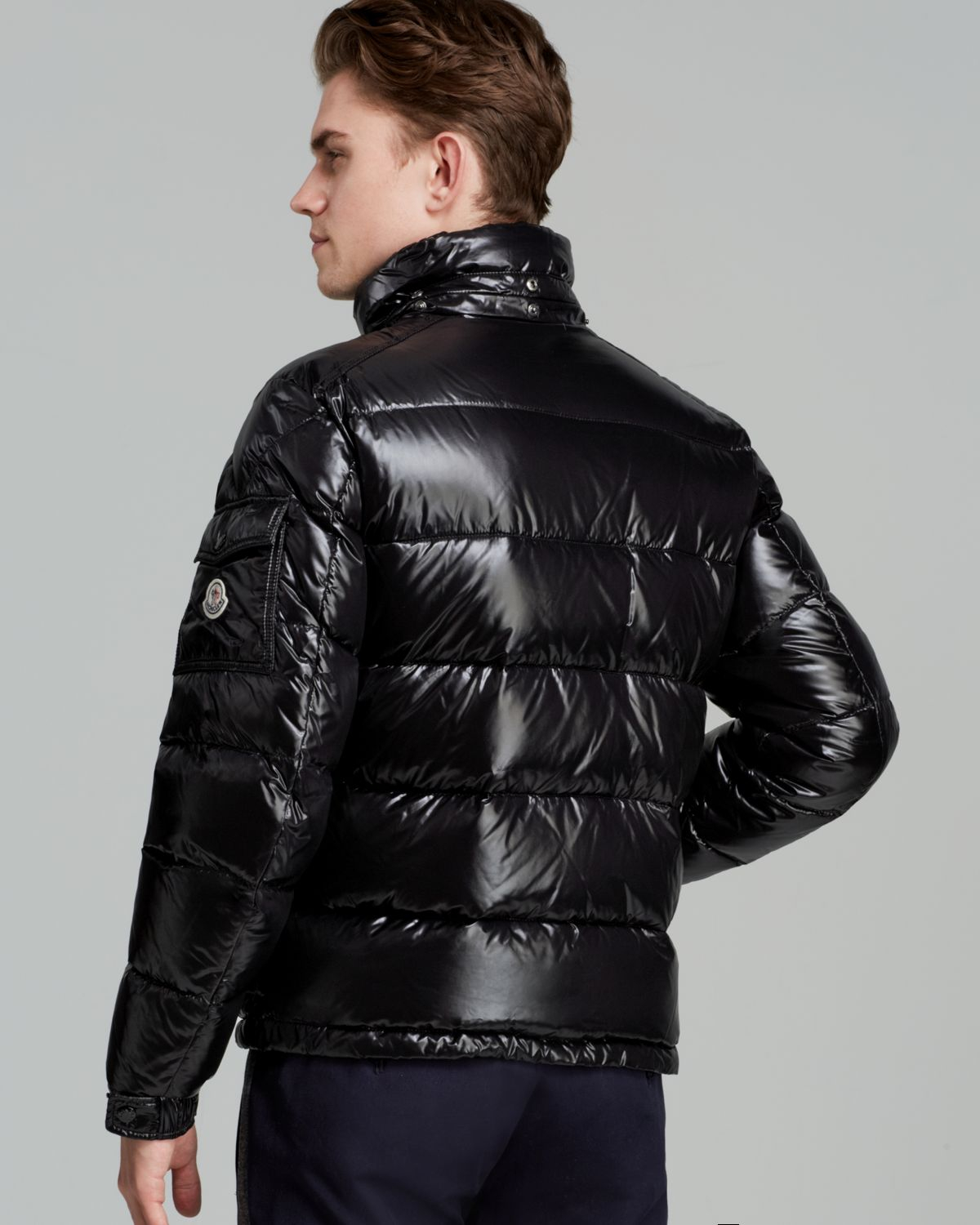 f82dd19b31a7 ... get lyst moncler maya glossy hooded down jacket in black for men bf434  c112e