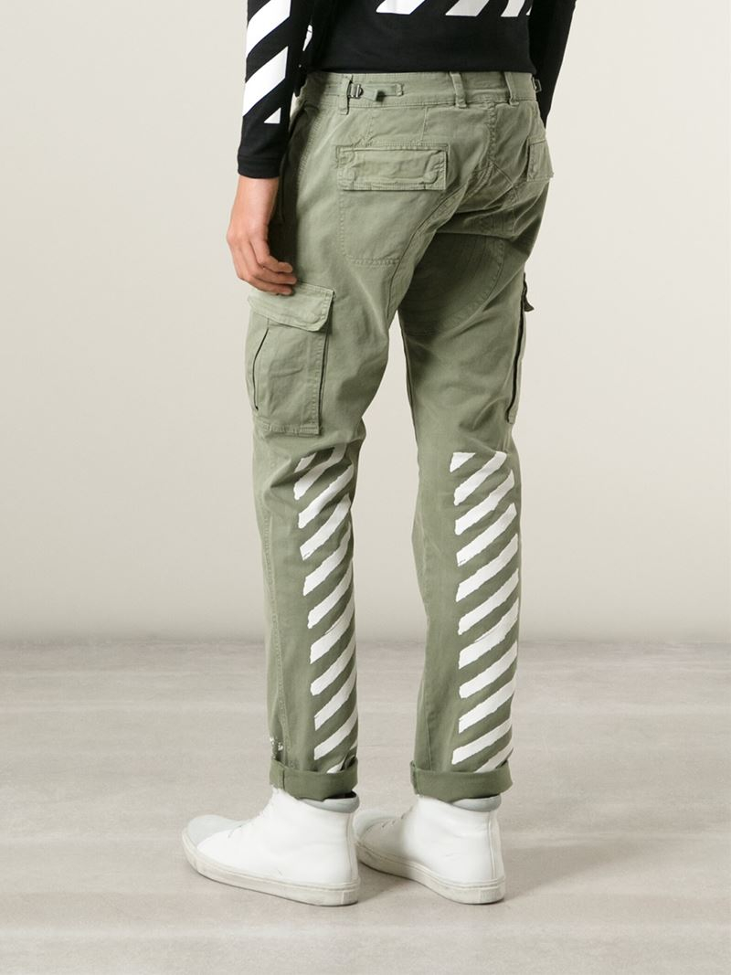 94633079e9 Lyst - Off-White c o Virgil Abloh  new White  Cargo Trousers in ...