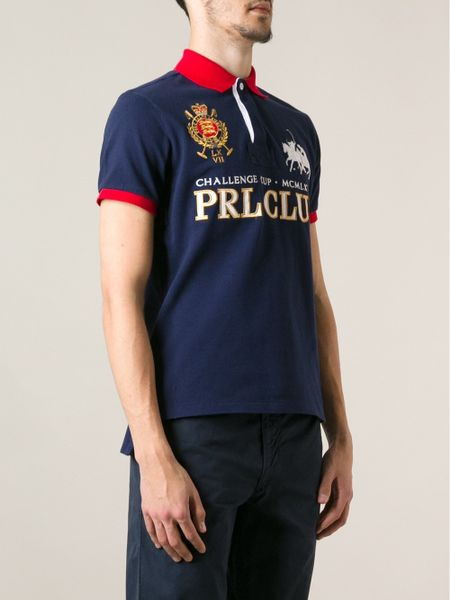 Polo Ralph Lauren Prl Club Polo Shirt In Blue For Men Lyst