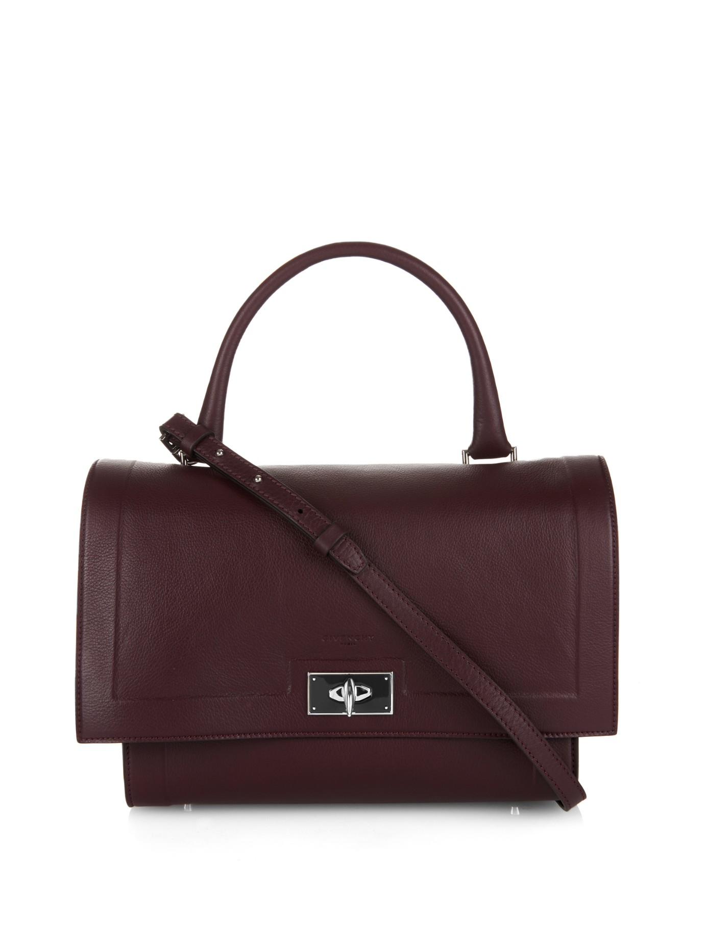 ca844605dd6 Givenchy Shark Small Leather Tote in Purple - Lyst