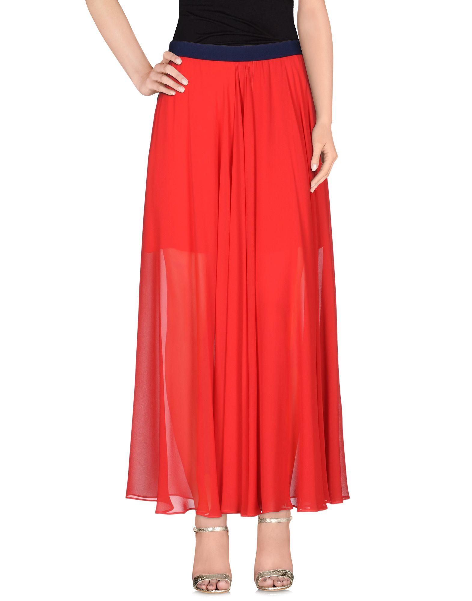 Alysi Long Skirt in Red | Lyst