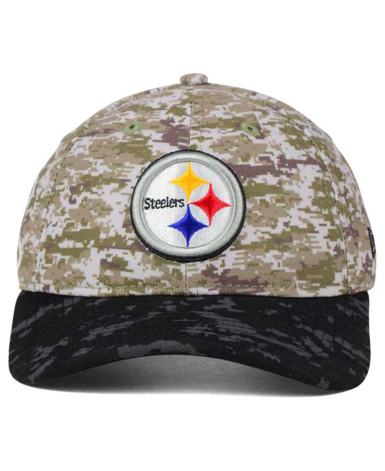 Lyst - Ktz Women s Pittsburgh Steelers Salute To Service 9twenty Cap ... 0ade04e0a