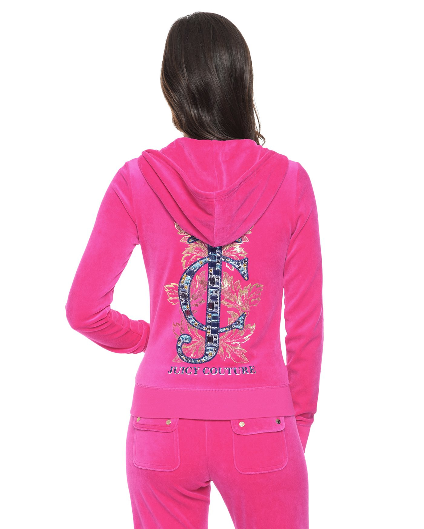 juicy couture logo jc jewels velour original jacket in
