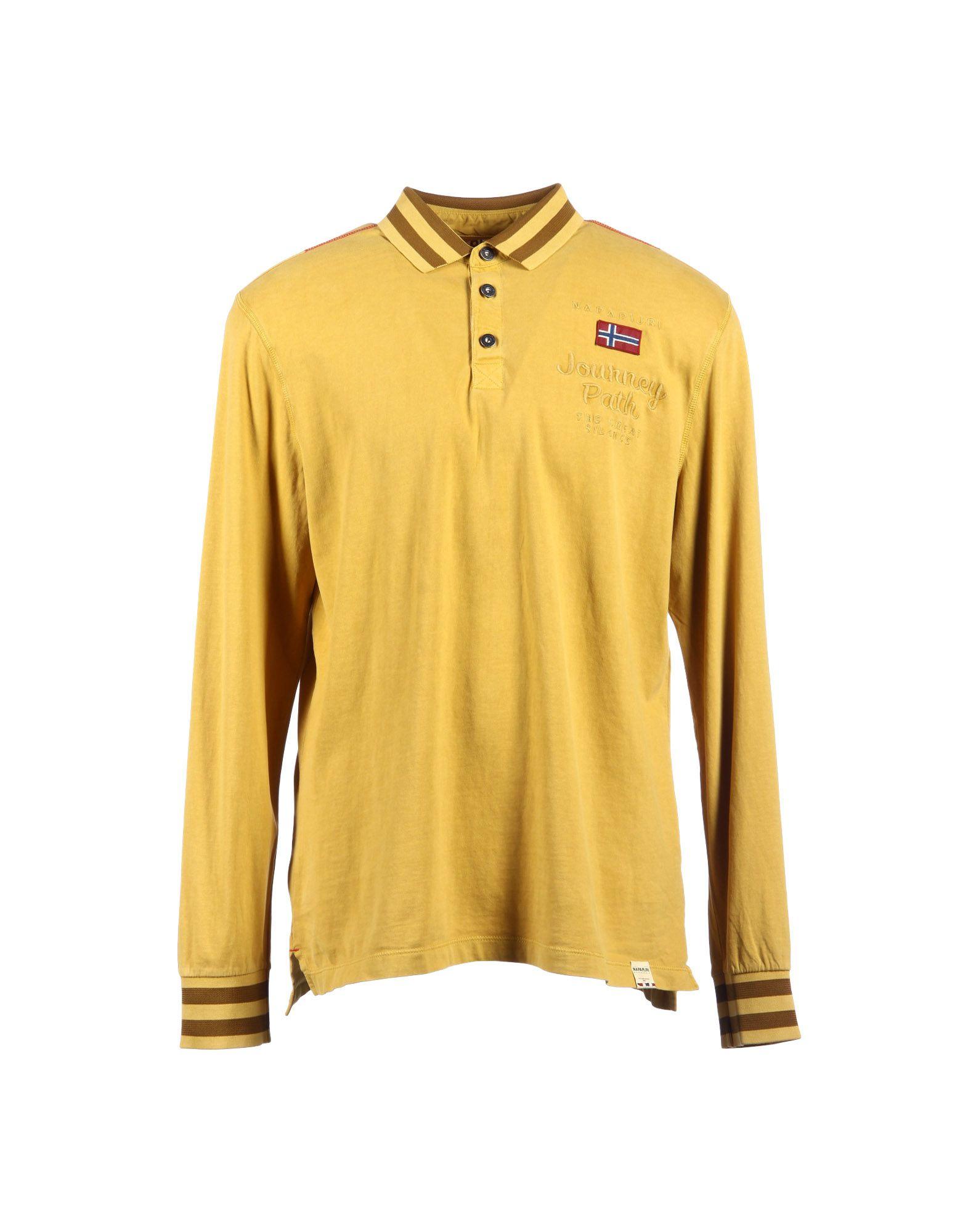 Napapijri Polo Shirt In Yellow For Men Ocher Save 42