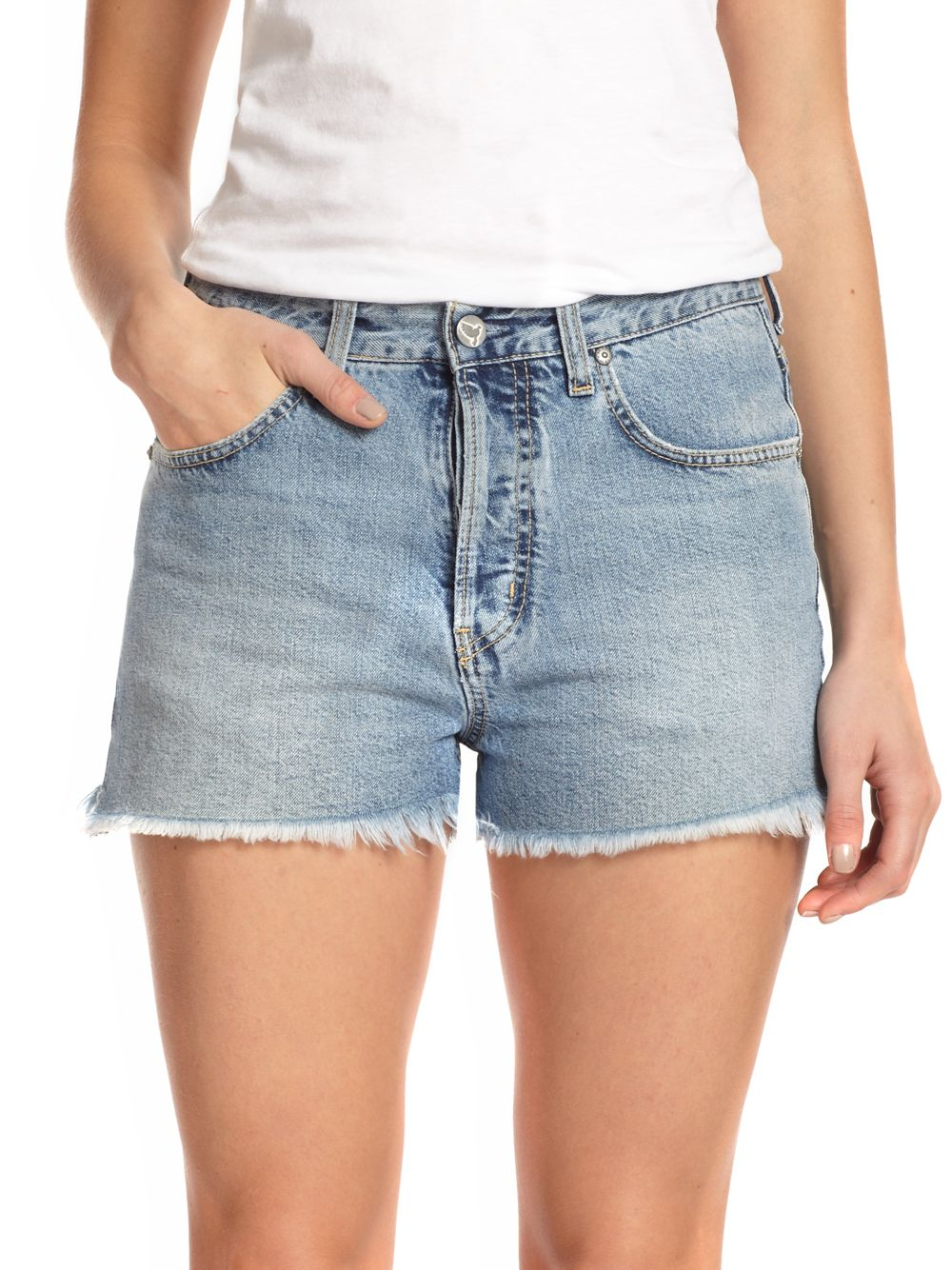 d7240d49c0 M.i.h Jeans The Halsy Cut-off Denim Shorts in Blue - Lyst