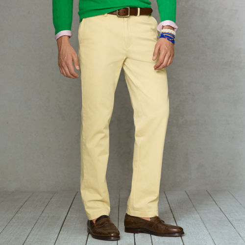 Polo ralph lauren Classicfit Chino Pant in Yellow for Men | Lyst