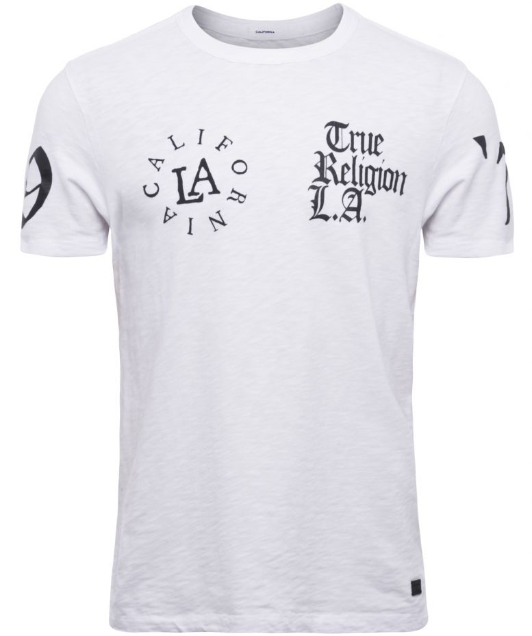 True religion California T-Shirt in White for Men | Lyst