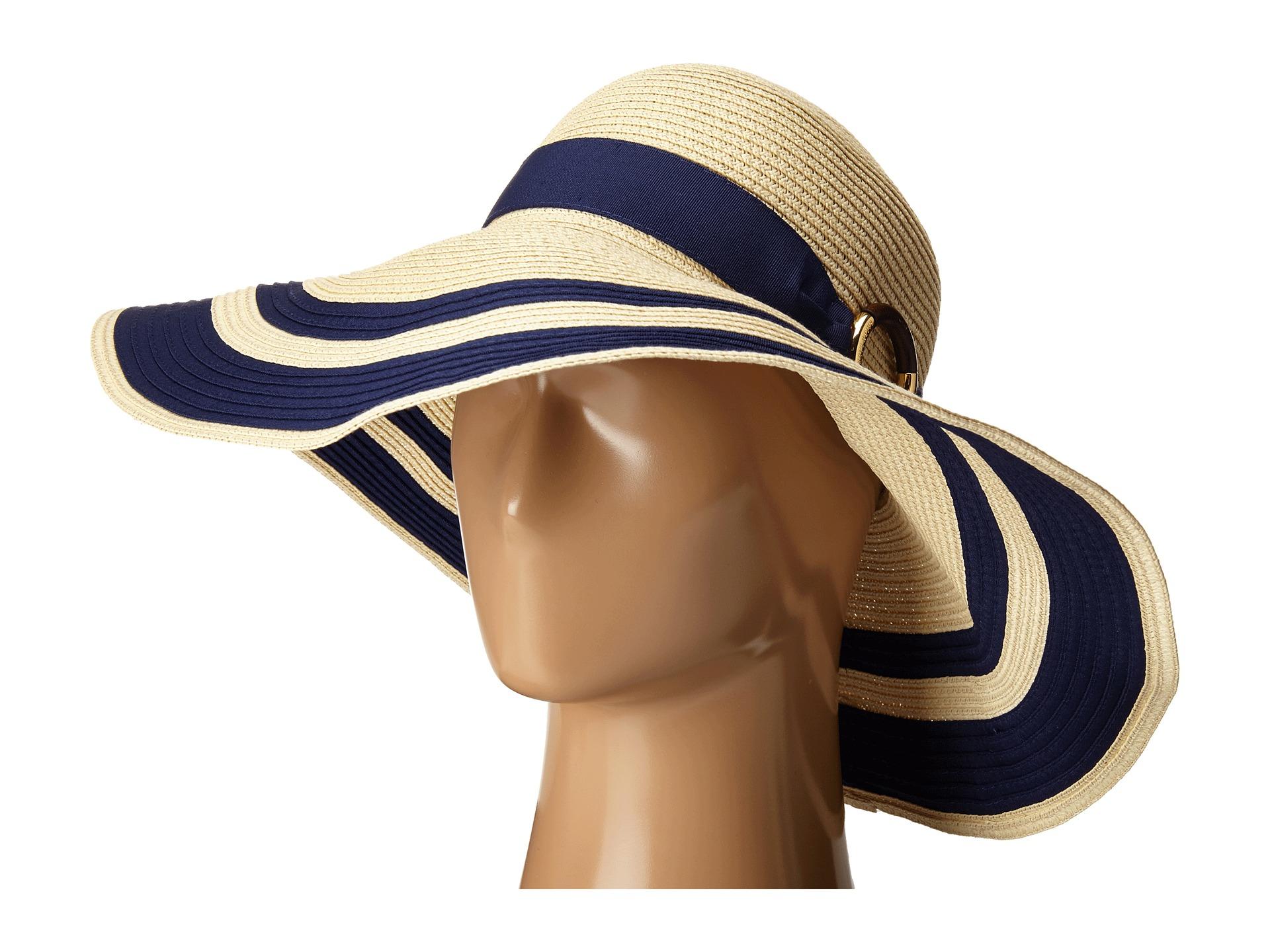 Lyst - Lauren by Ralph Lauren Paper Straw Bright   Natural Sun Hat ... 66bd32b9722a