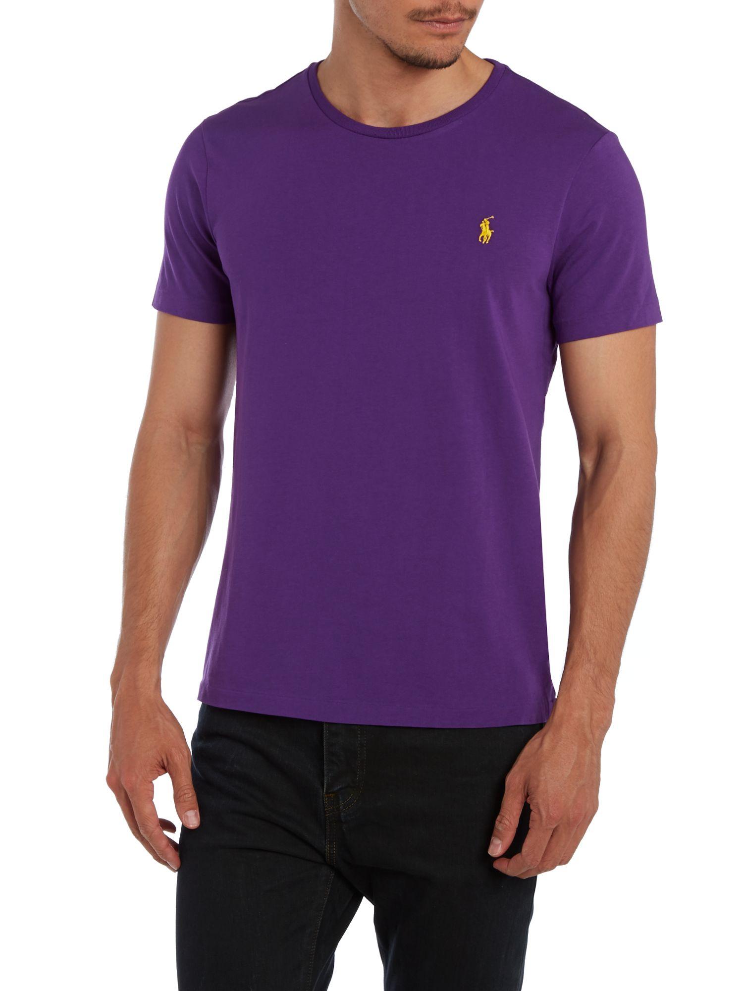 Polo Ralph Lauren. Purple Crew Neck Custom Fit .