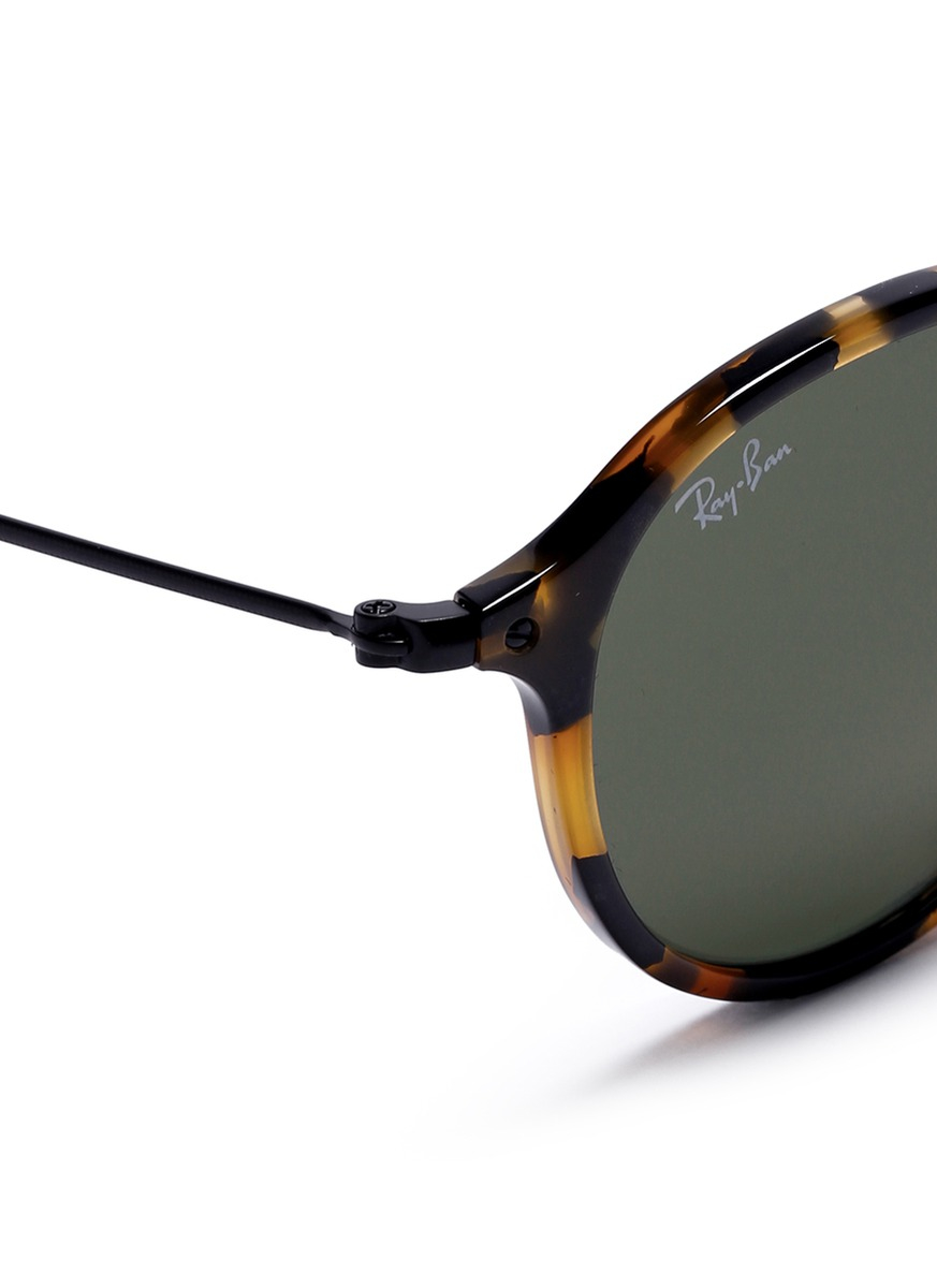 Ray Ban Round Tortoise S Sunglasses  ray ban round icon fleck tortoises effect acetate sunglasses